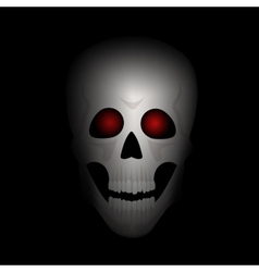 Skull with red eyes vector