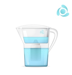 Water filtration jug vector