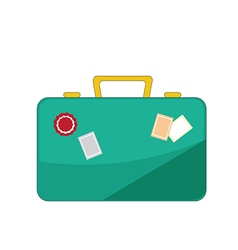 Luggage icon on white background vector