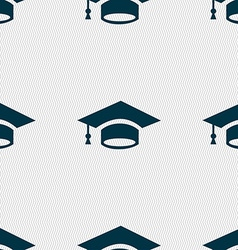 Graduation icon sign seamless pattern with vector