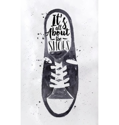 Poster mens sport shoes vector