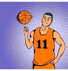 Basketball player concept comics style vector image