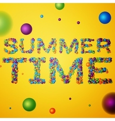 Summer time words vector