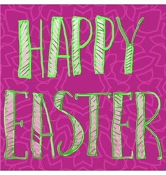 Happy easter letters print vector