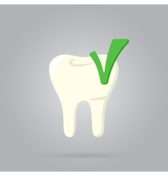 Tooth logo isolated vector
