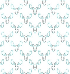 Pattern background with a deer head pattern elk vector