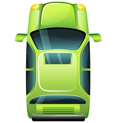 A green vehicle vector image