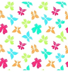 Butterflies Pattern Color Big vector image vector image