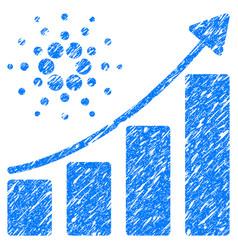 Cardano growth chart icon grunge watermark vector