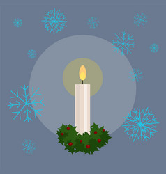 christmas candle flat vector image
