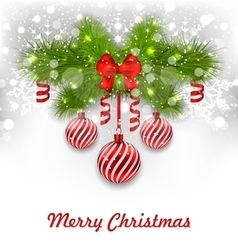 Christmas glowing greeting background vector