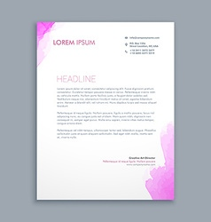 clean corporate letterhead design vector image vector image