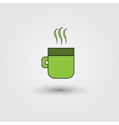 cup of coffee on a white background vector image