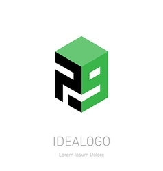 design element logotype or icon with figures 7 and vector image vector image