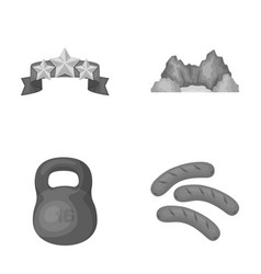 Education sports and other monochrome icon in vector