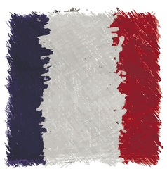 Flag of France handmade square shape vector image vector image