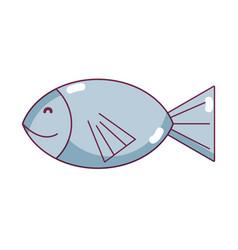 fresh fish animal to preparation meal vector image