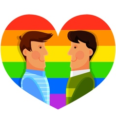 gay men vector image vector image