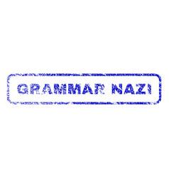 Grammar nazi rubber stamp vector