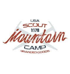 Mountain scout emblems for t shirt vector image vector image