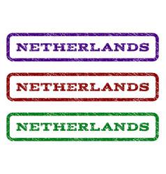 Netherlands watermark stamp vector