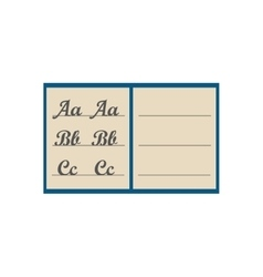Notepad notebook isolated on white vector