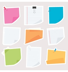 Notepapers vector