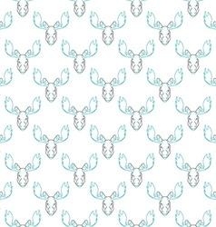 Pattern background with a deer Head pattern elk vector image vector image
