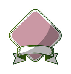 ribbon with frame icon vector image vector image
