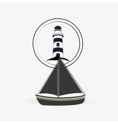 Sea lifestyle icon nautical design Flat vector image
