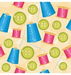 Seamless sewing background vector image