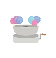 Sugar food design cotton candy icon sweet vector image