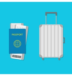 Suitcase icon Travel baggage Luggage handbag vector image
