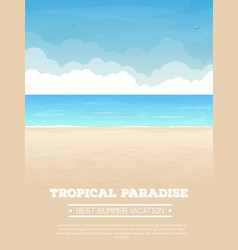 tropical beach vacation banner vector image