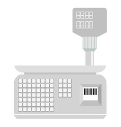 weigh-scales from shopping centre vector image