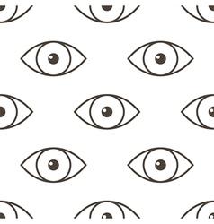 Monochrome human eyes seamless pattern back vector image