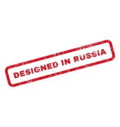 Designed in russia text rubber stamp vector