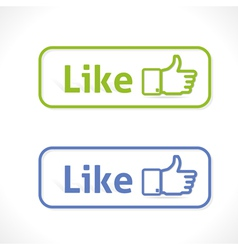 Likes vector image