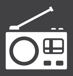 Radio solid icon communication and website vector