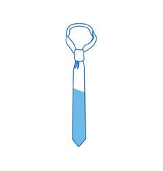 tie accessory clothes wear elegance icon vector image