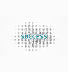 Word success in typography characters vector