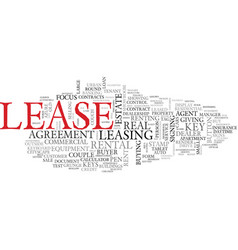 Lease word cloud concept vector