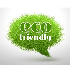 Eco friendly concept or emblem vector image