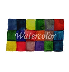 Watercolor checked background vector