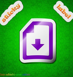 Import download file icon sign symbol chic colored vector