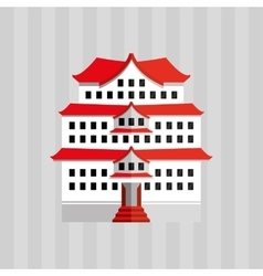 Japanese culture design vector image