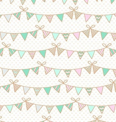 Background with garlands of flags for childrens vector
