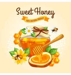 Sweet honey poster vector