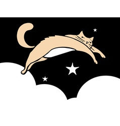 Leaping Cat vector image