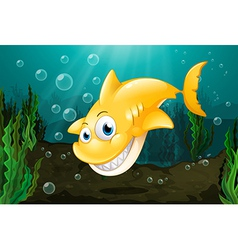 A big yellow shark vector image vector image